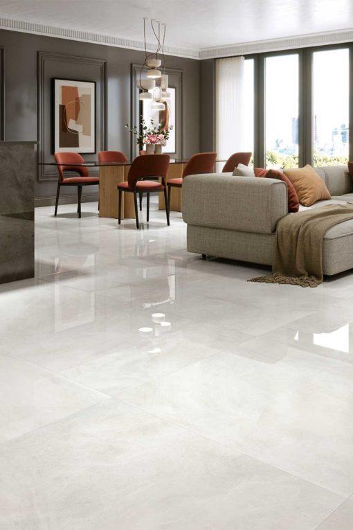 1 Metre x 1 Metre 1846 White Gloss Porcelain Tiles 2